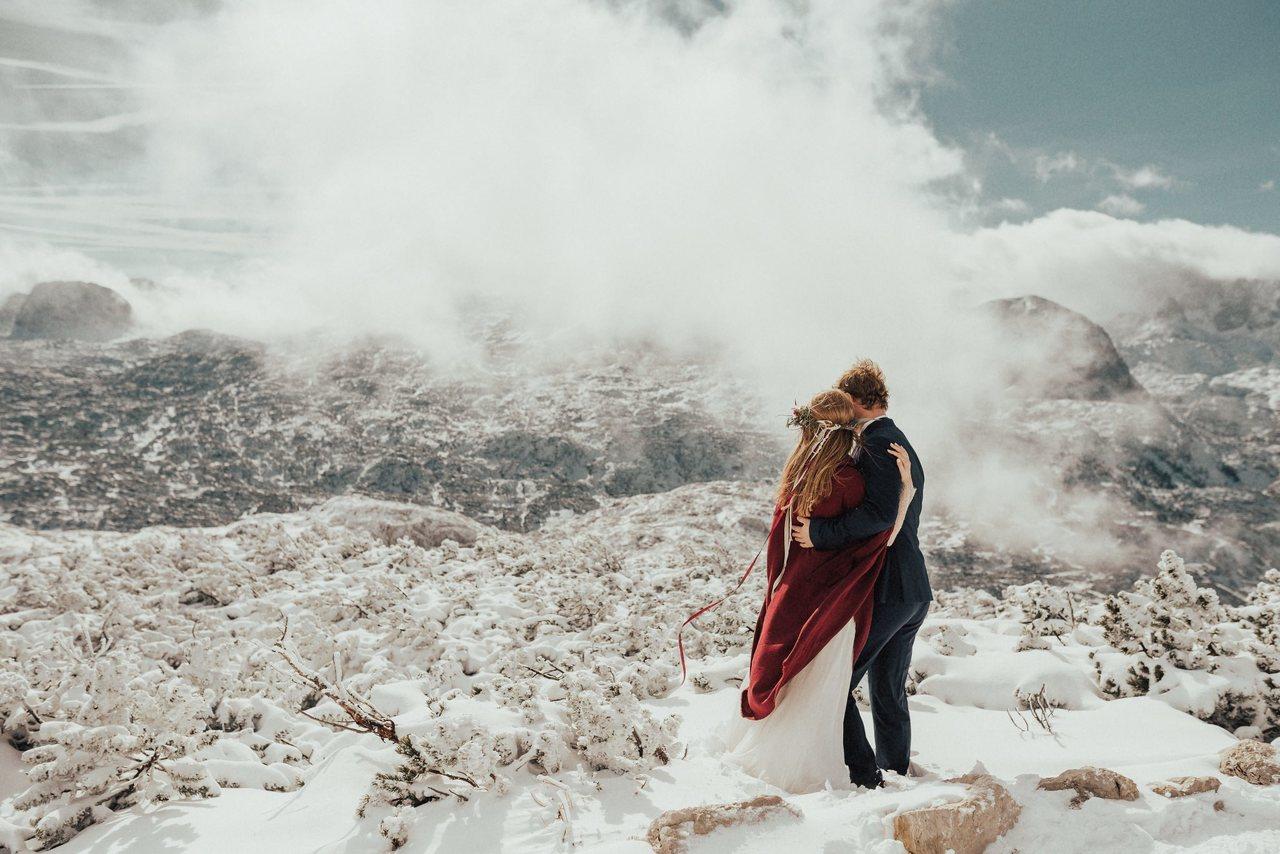 Sesja ślubna w górach, Para Młoda w górach