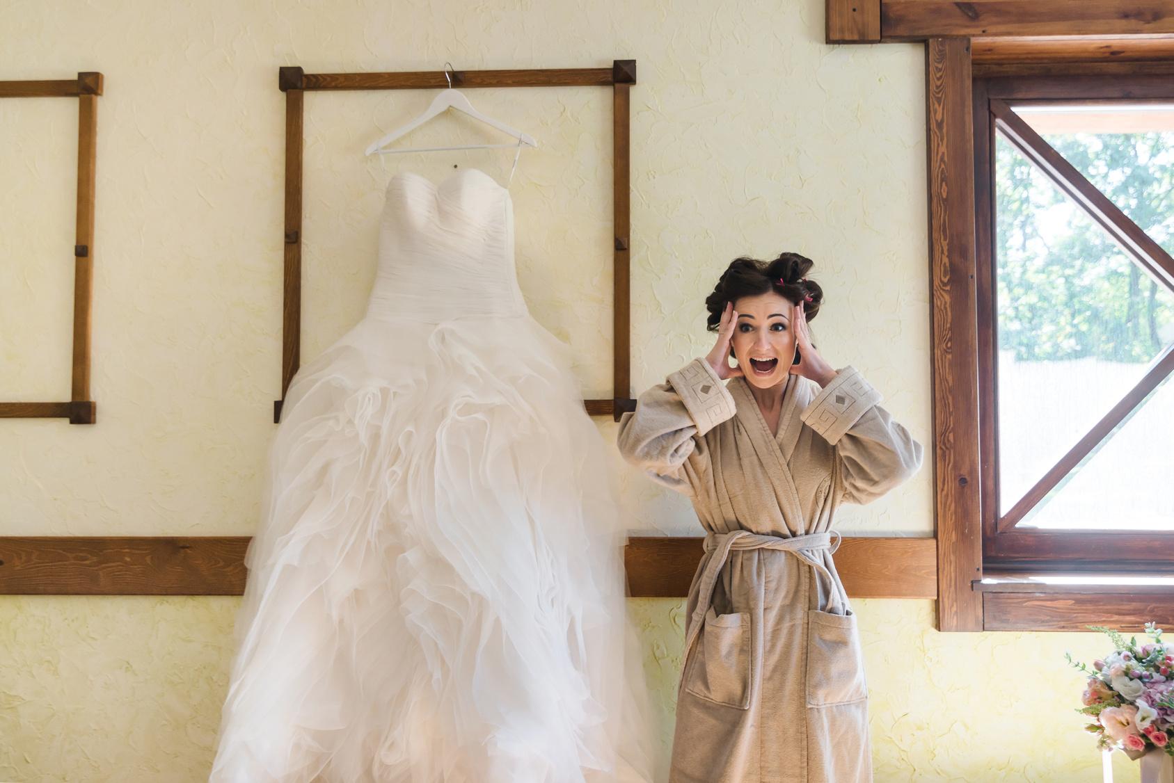Panna Młoda w dniu ślubu, Panna Młoda podczas przygotowań do ślubu